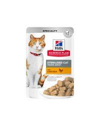 hills-feline-young-adult-sterilised-cat-pollo-bolsita-85g